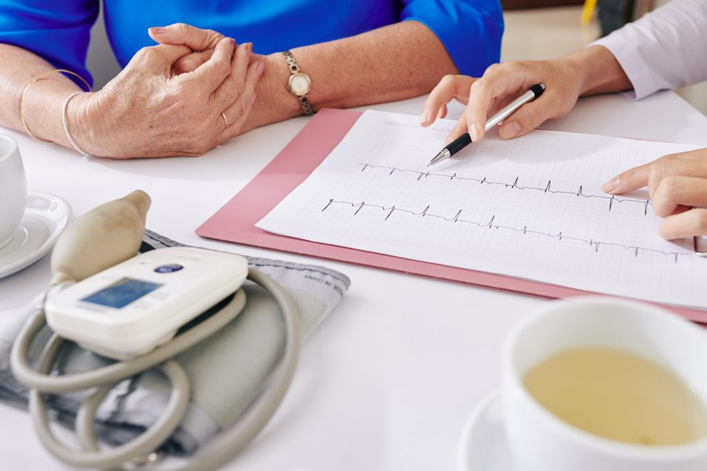Woman visiting cardiologist